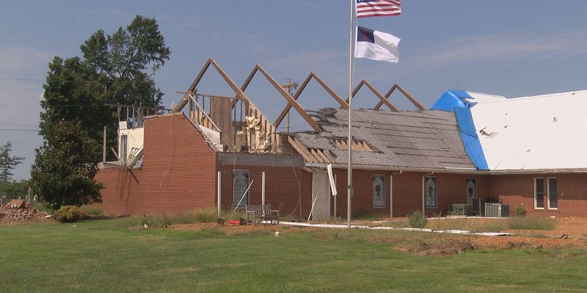 Church rebuilding after EF2 tornado in March 2019