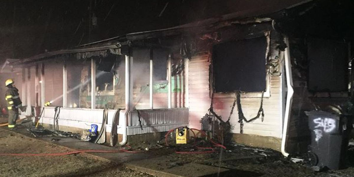 Fire displaces family with multiple children from home
