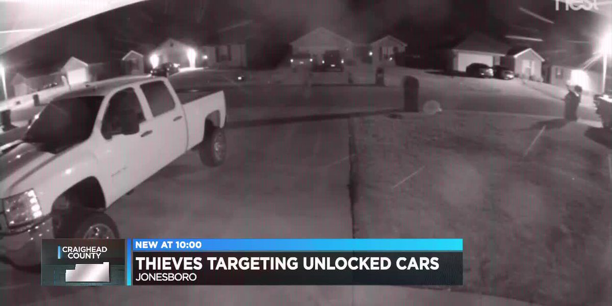Thieves targeting unlocked cars in Jonesboro