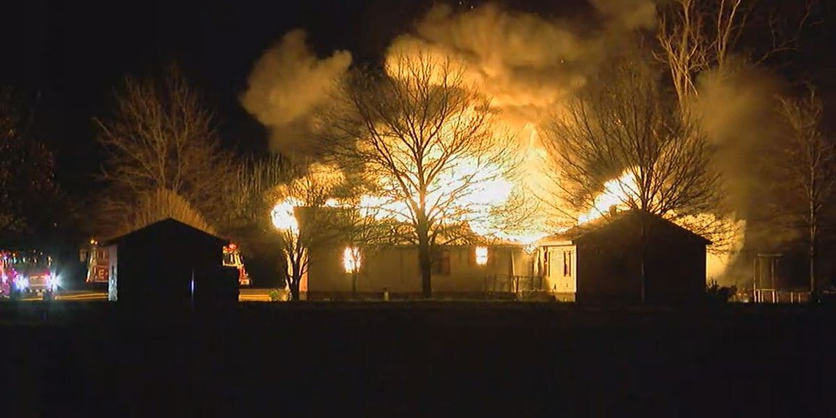 Fire destroys house in Caraway, elderly woman injured