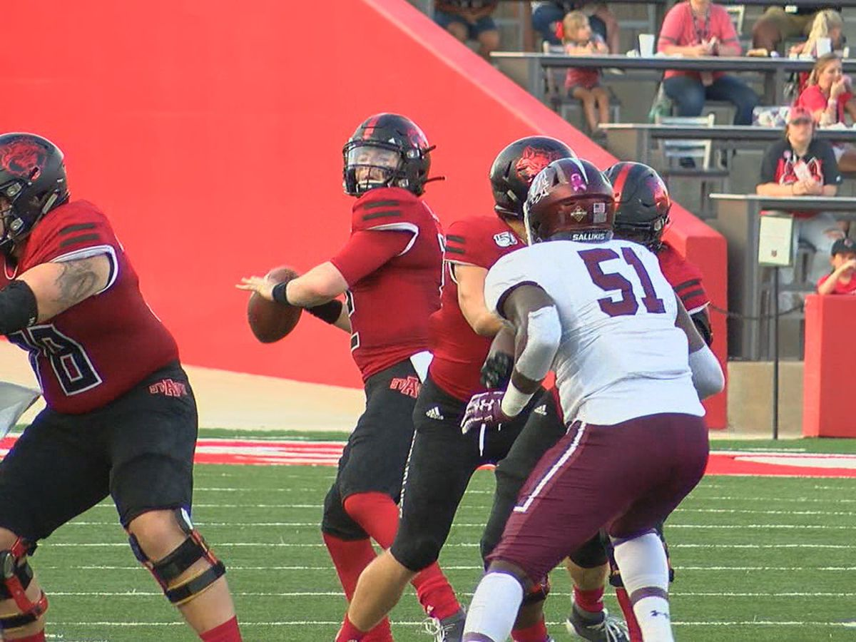 Red Wolves beat Southern Illinois 41-28 in home return for Blake Anderson