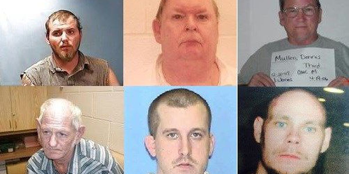 Local officers searching for five men for failure to register as sex offenders