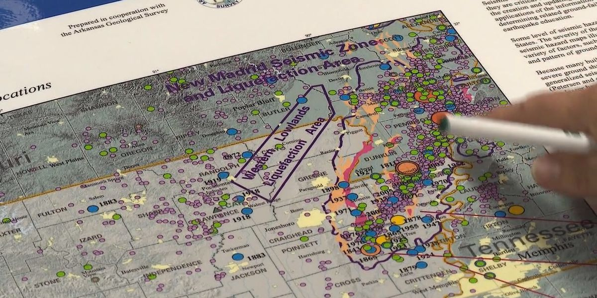 Survey finds earthquake potential in Arkansas