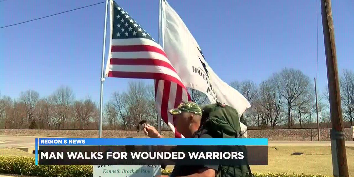 Man Walks For Wounded Warrior