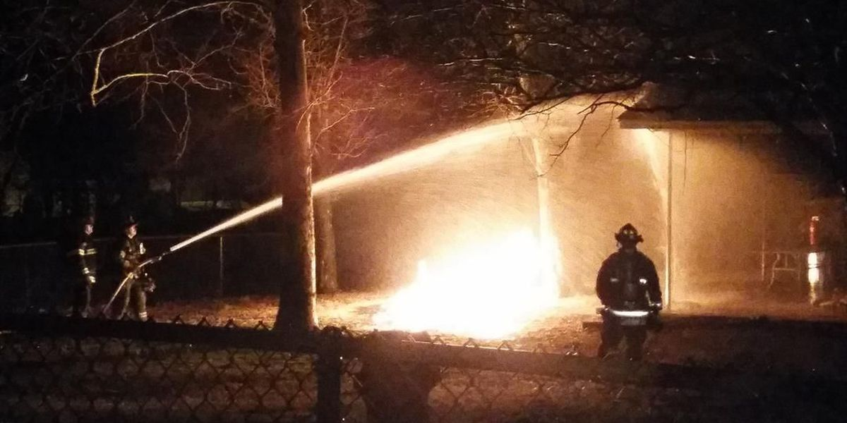 Lightning hits gas line near Jonesboro home