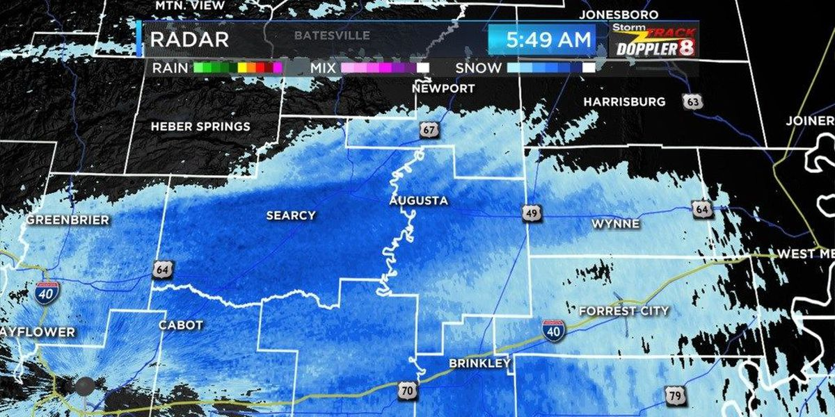 Snow falls in parts of Region 8 overnight, power outages reported. Latest info. now on GMR8