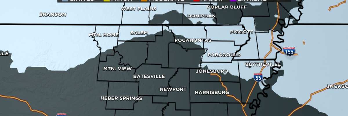 Snow showers, gusty winds possible across Northeast Arkansas