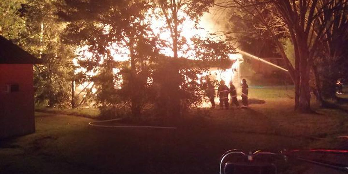 Gosnell Fire Department battles large house fire