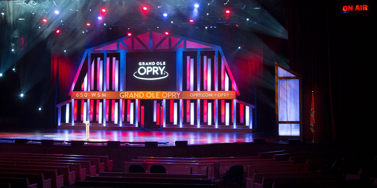 Grand Ole Opry streaming acoustic concert live at empty venue