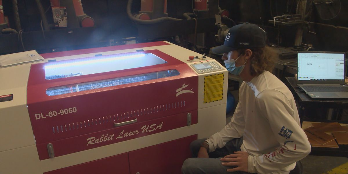 High school students learn new skills after school purchases laser system