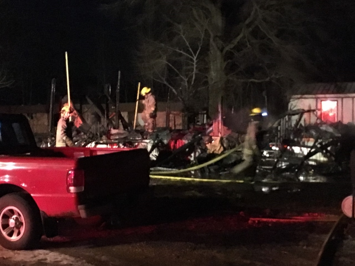 Mobile home a total loss in Advance, MO