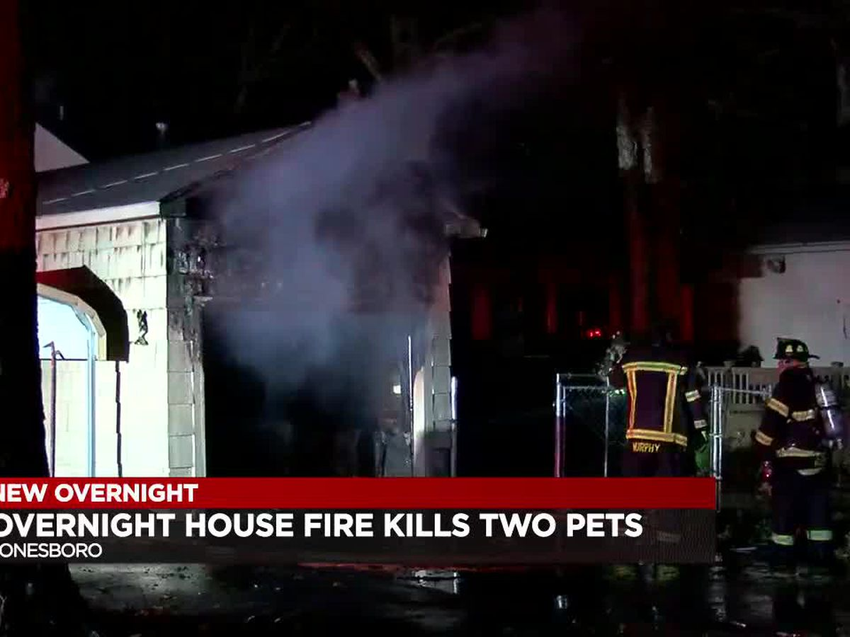 Overnight house fire in Jonesboro leaves two pets dead