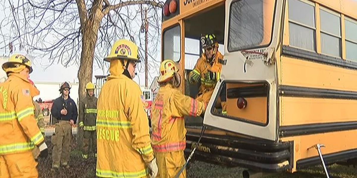 First responders train, tear bus to shreds
