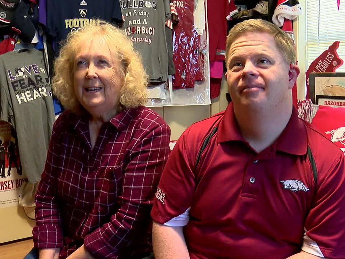 Razorback superfan Canaan Sandy celebrates birthday in style Thursday