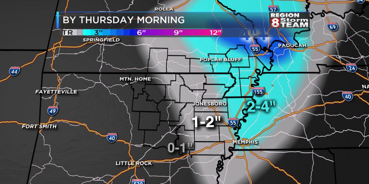 """Wet, sticky"" snow moves into Region 8"