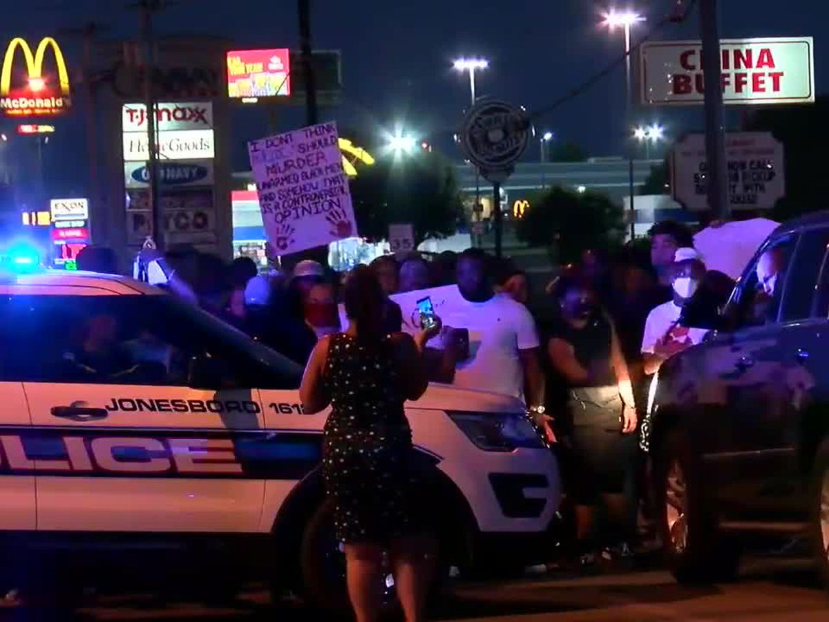 June 1: Protesters take to the streets of Jonesboro