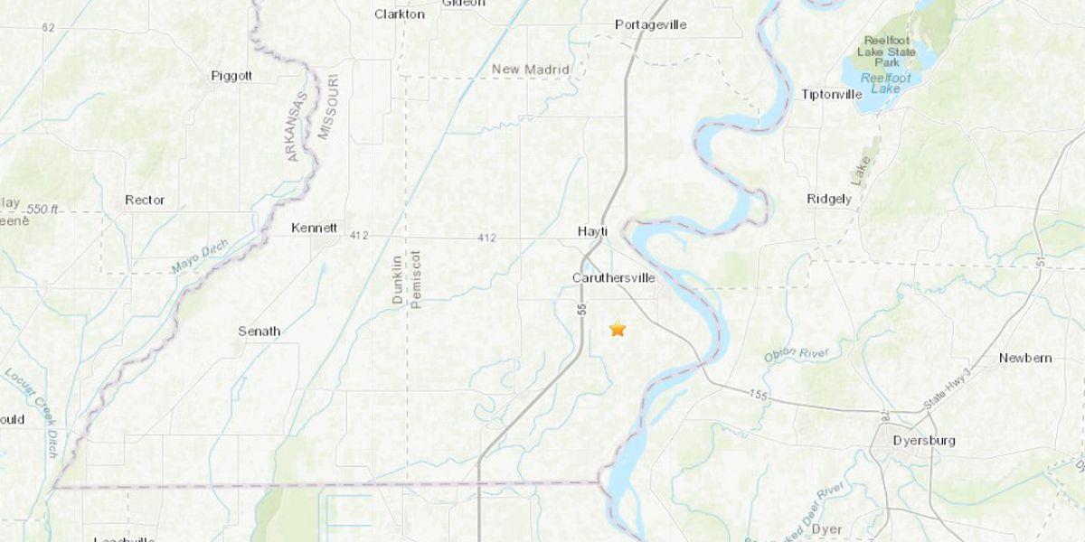 Small earthquake recorded near Caruthersville, Mo.