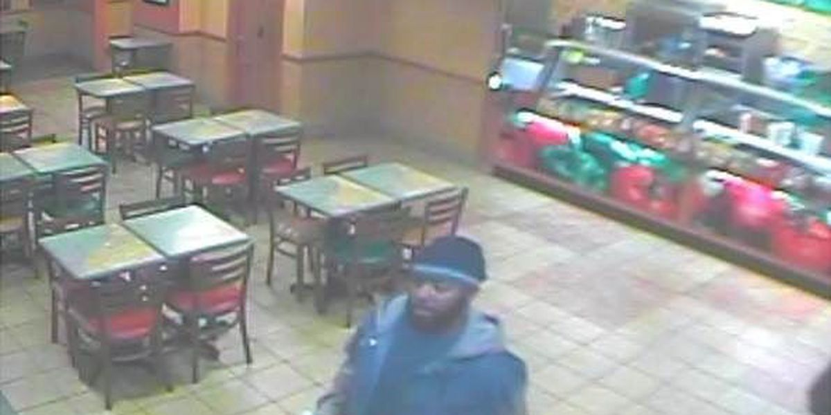 Armed robbery suspect ordered sandwich, then money