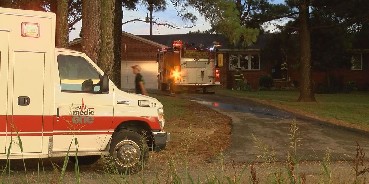 Home catches fire after lightning strike