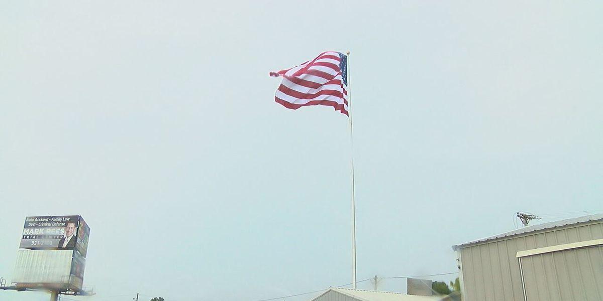 Man raises largest U.S. flag in Randolph County