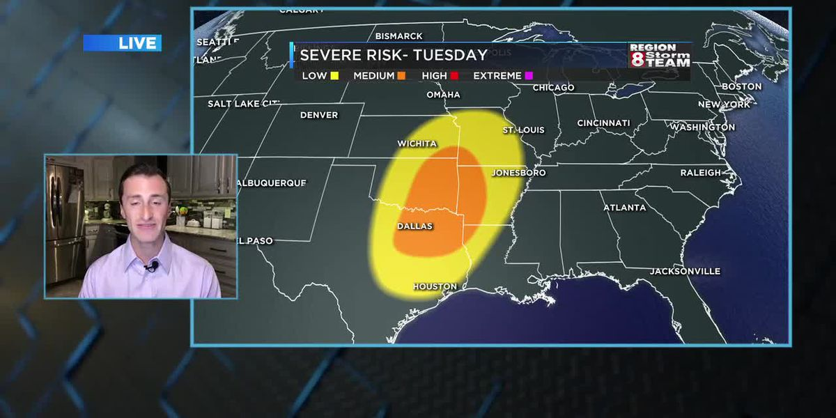 April 27: Severe storms possible Tuesday night