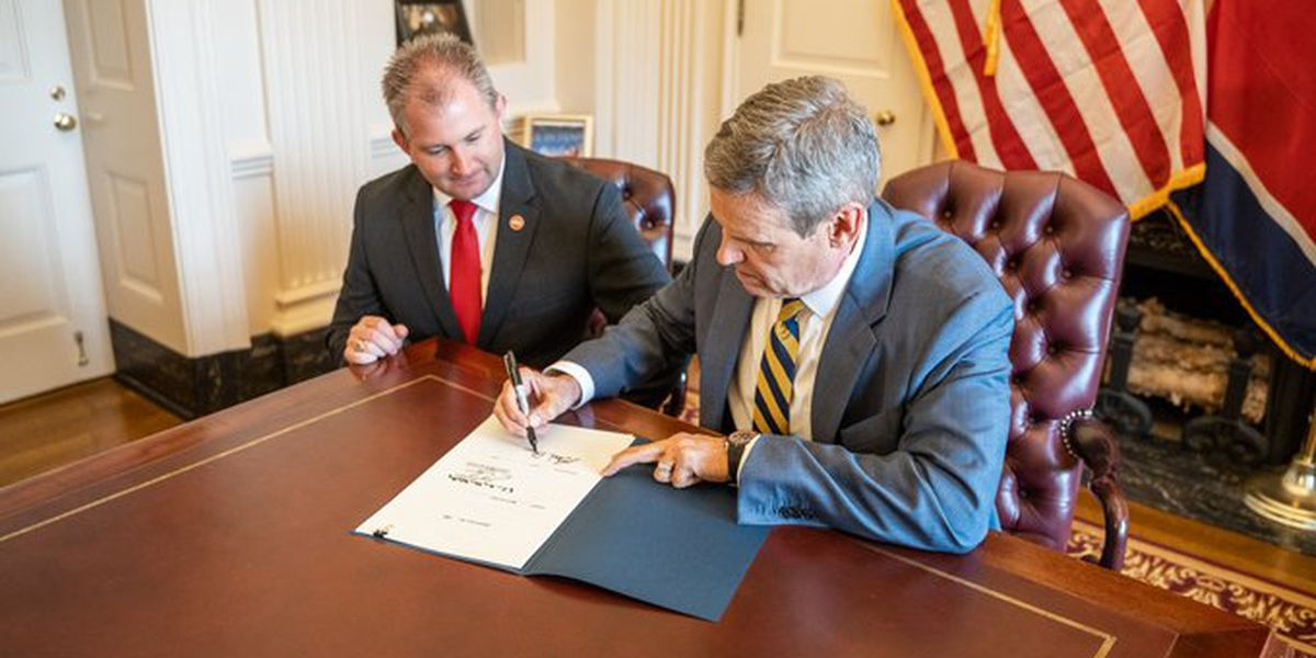 Permitless carry bill becomes law with Tennessee governor's signature