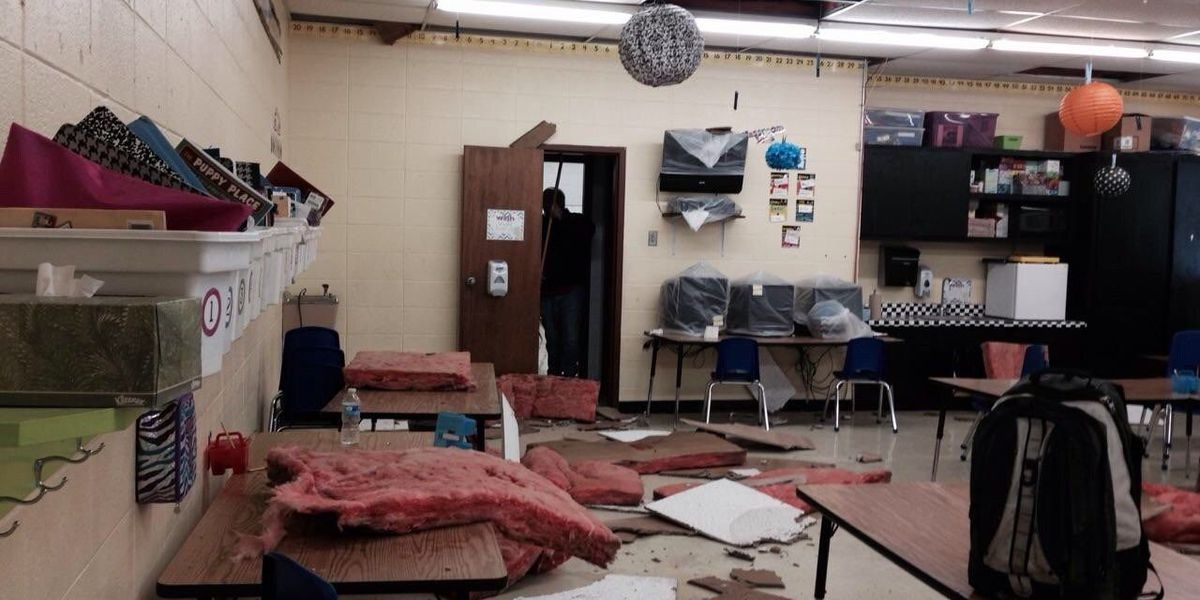 Roof problems for Oak Grove Elementary