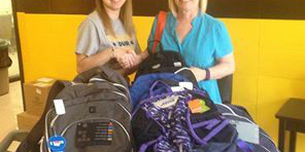 School receives donation from Walmart