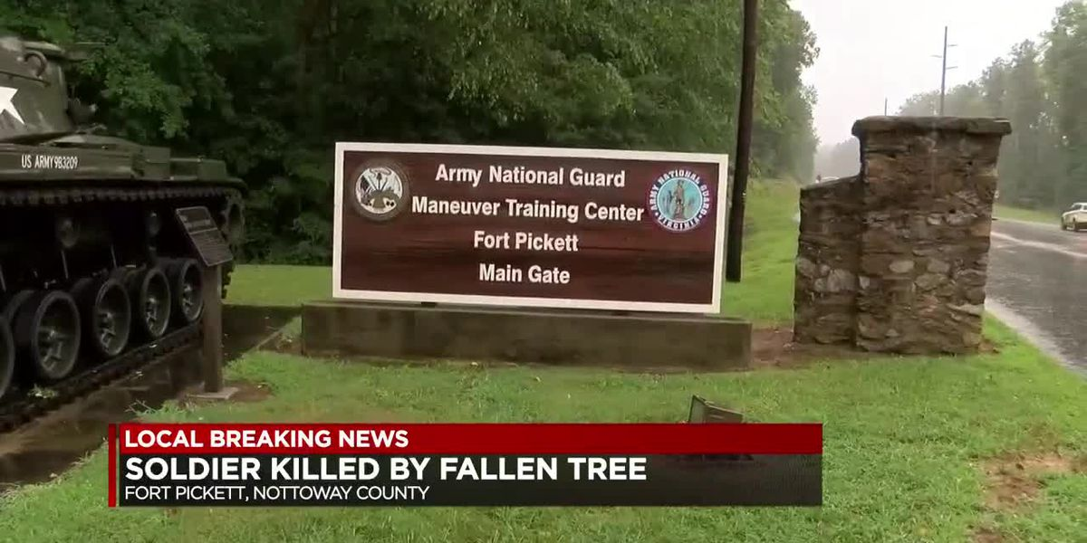Soldier killed by fallen tree at Fort Pickett