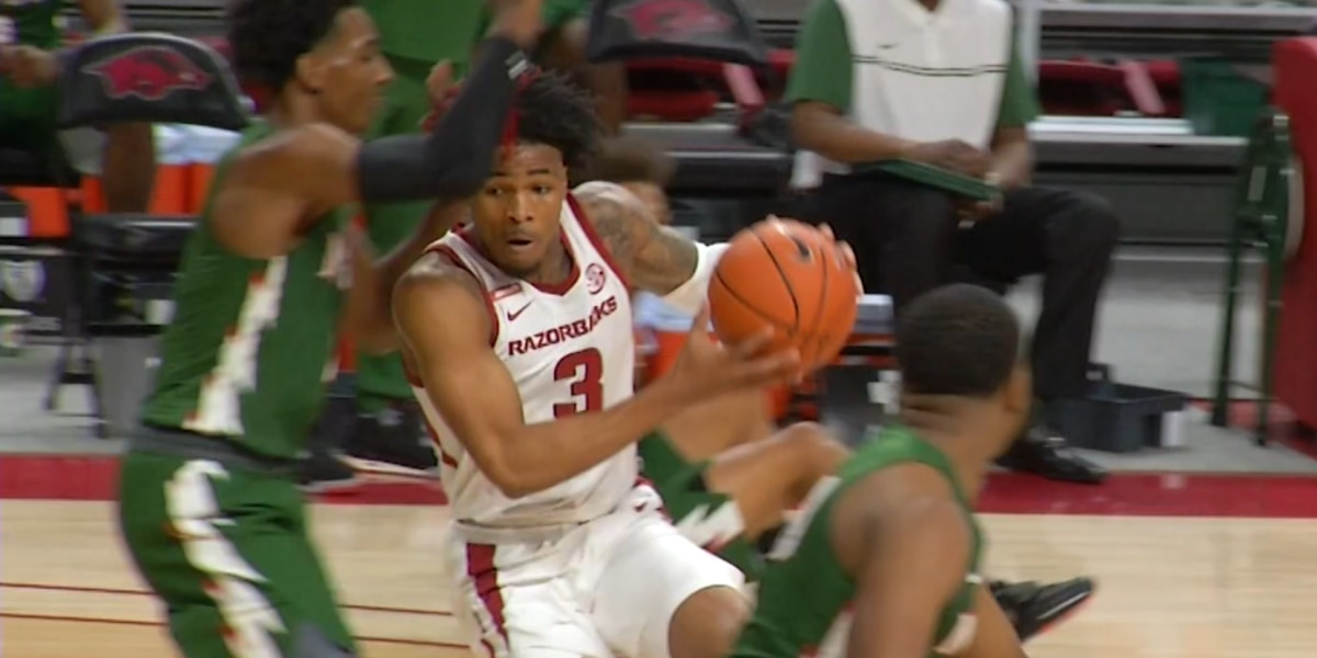Desi Sills has 15 pts, Arkansas routs Mississippi Valley 142-62