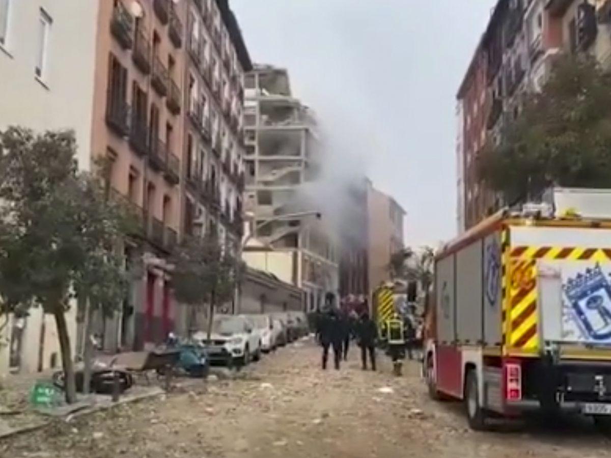 Gas explosion rips through Madrid building, killing 3