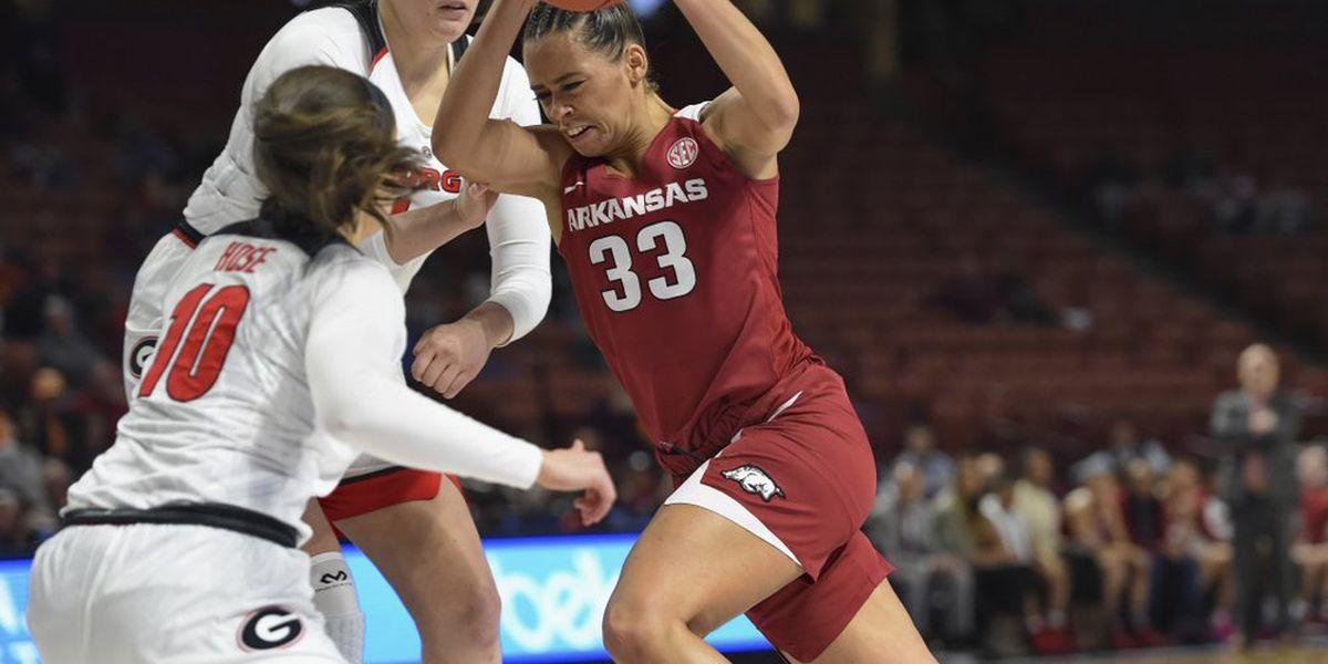 Dungee leads Arkansas women past Georgia 86-76 in SEC Women's Tournament