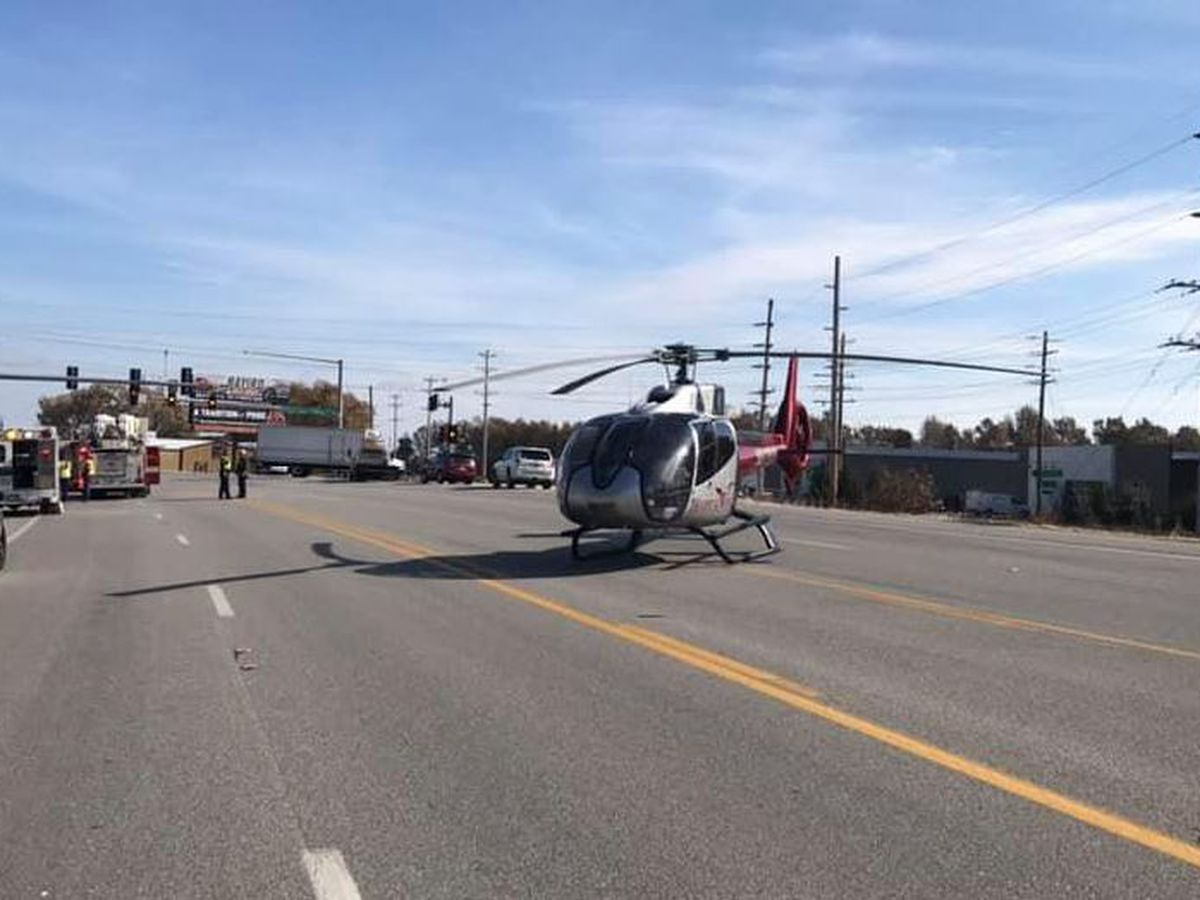 Three people taken by ambulance, 1 airlifted to Memphis after two-vehicle crash