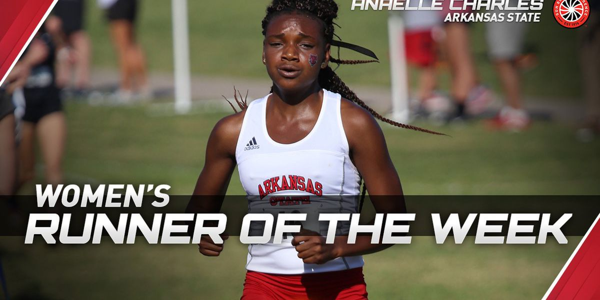 A-State junior Anaelle Charles named SBC Women's Cross Country Runner of the Week