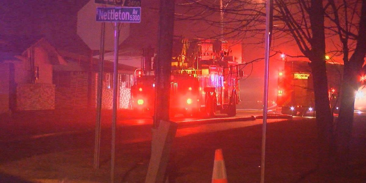 Sunday night fire sends woman to hospital