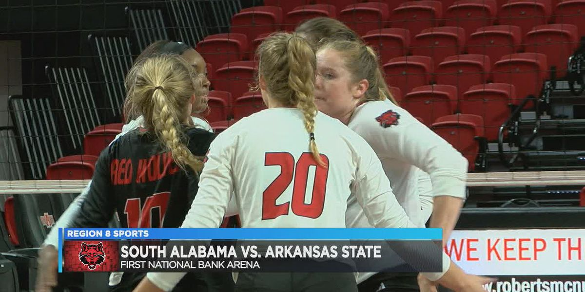 A-State volleyball rallies to beat South Alabama for 8th straight win