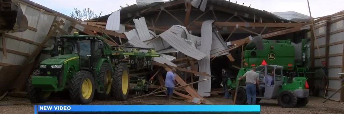 Storms damage local farms, crops