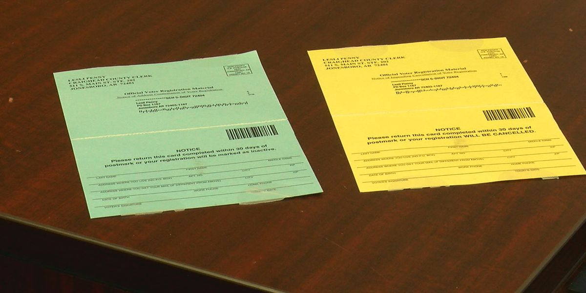 County confirming voter registration records through mail