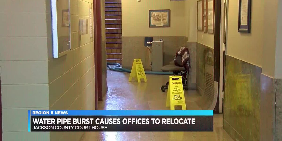 Busted pipe leads to courthouse relocation