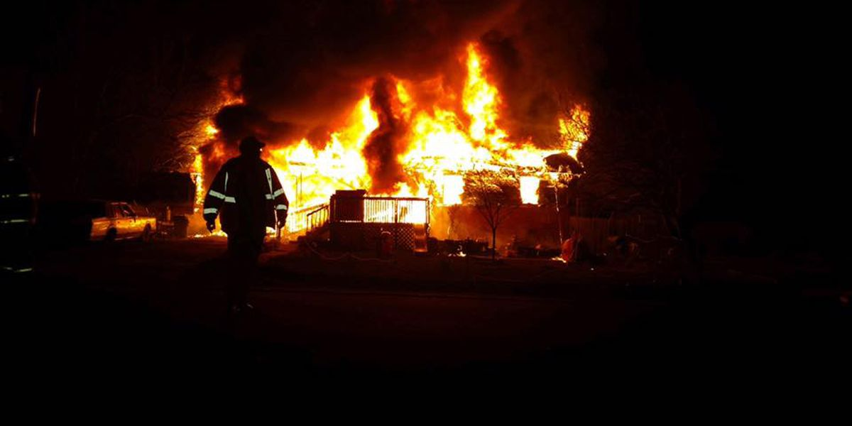 Home destroyed in late-night fire