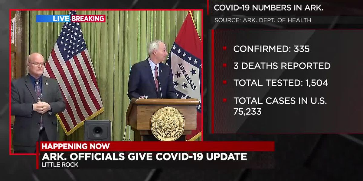 WATCH FULL BRIEFING: Gov. Hutchinson's daily COVID-19 update for Arkansas - 3/26