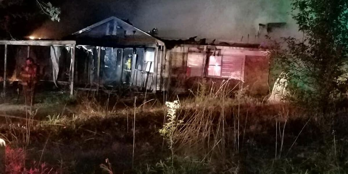 Firefighters battle fire at abandoned house