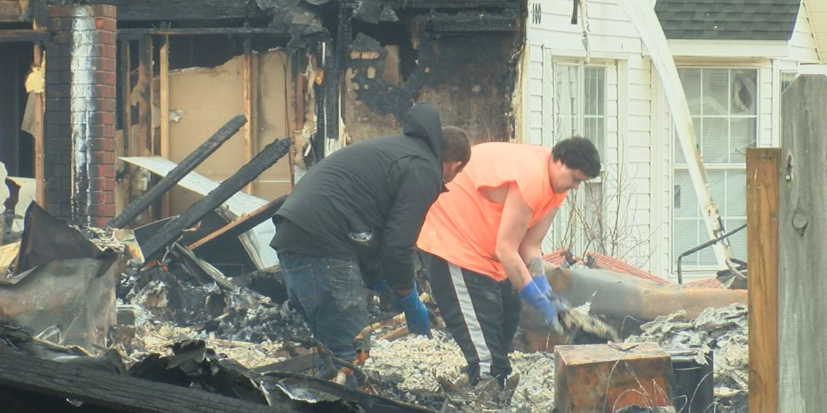 Community picking up pieces after fire destroys Hoxie homes