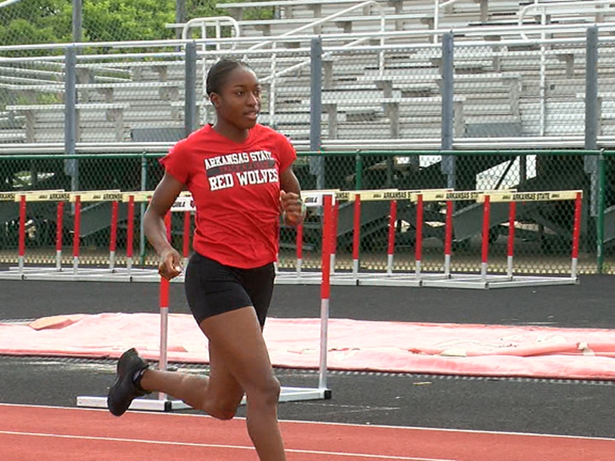 Countdown to California: Arkansas State senior Caitland Smith competing in 3 events