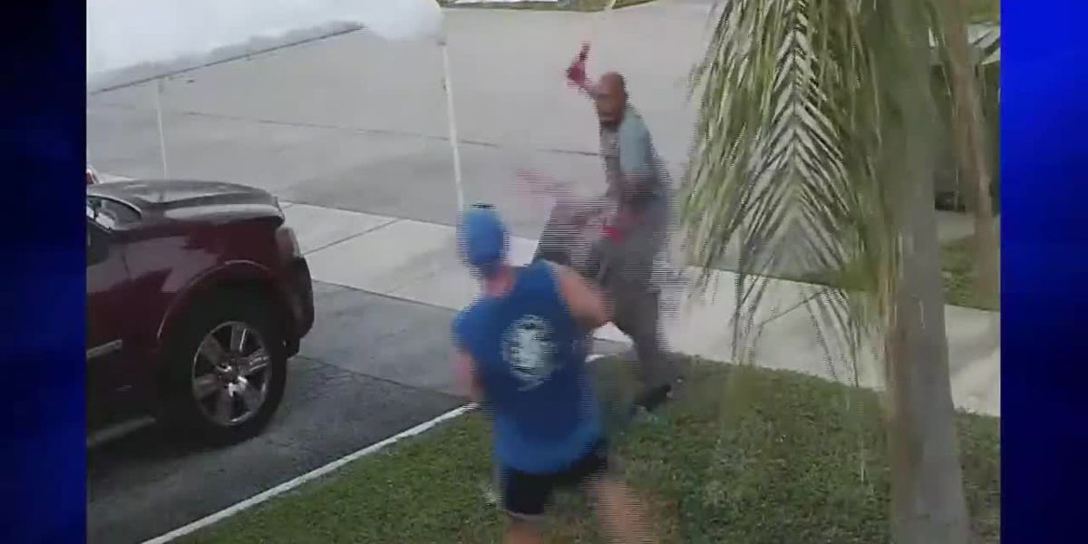 Florida man chases, attacks another man with sword over wheelbarrow