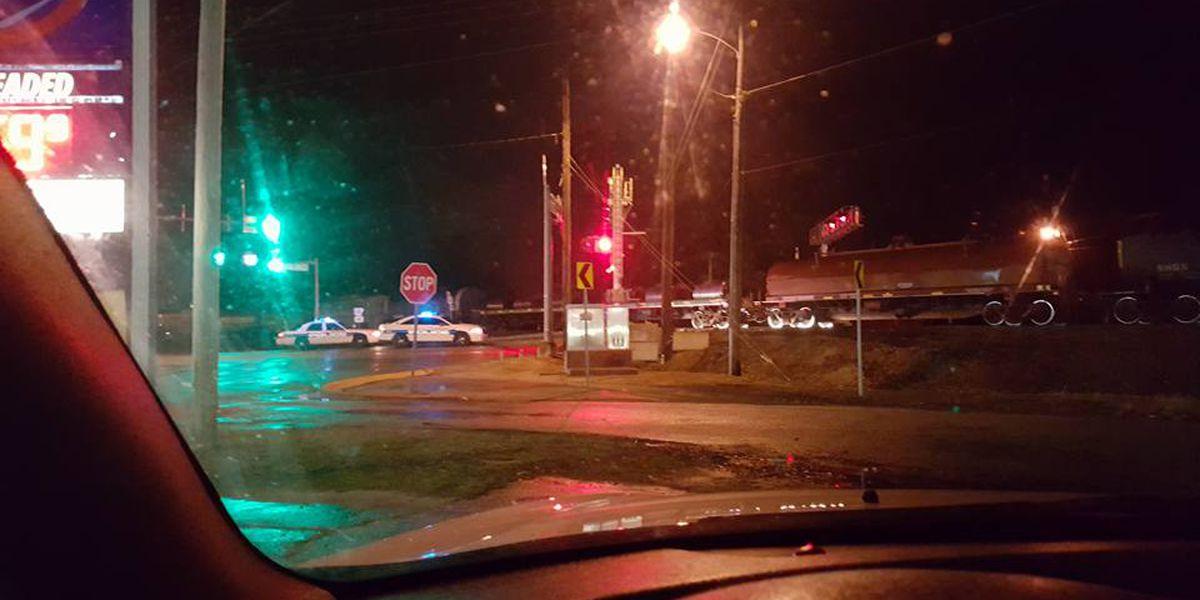 Train stopped overnight, blocks busy Jonesboro intersection
