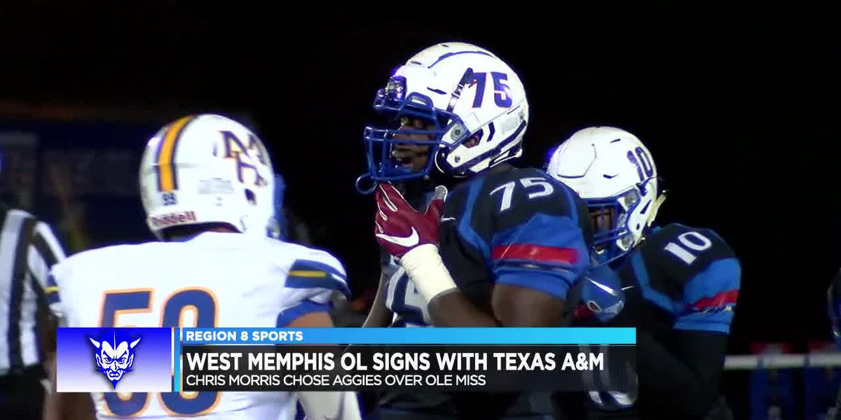 West Memphis OL Chris Morris signs with Texas A&M