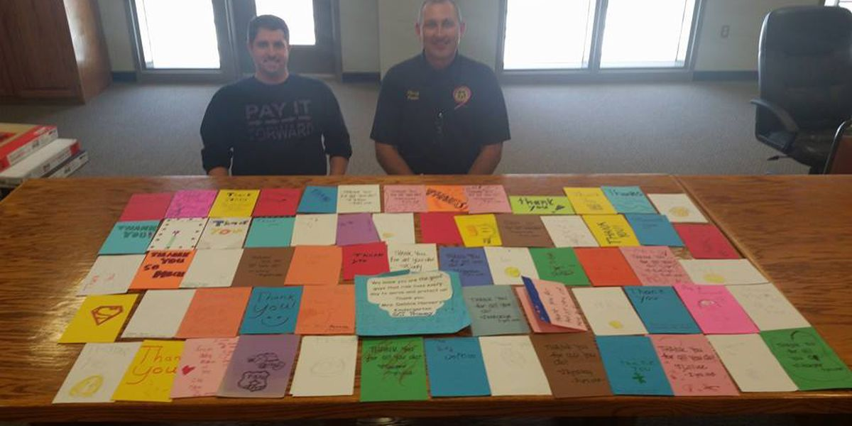 Local children show appreciation for Greene County Sheriff's Department