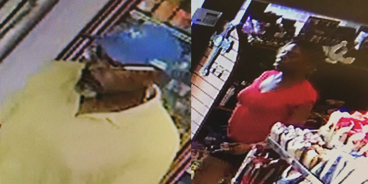 Police are searching for two people suspected of theft