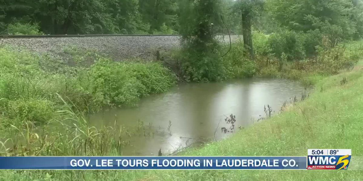 Gov. Bill Lee tours flood-affected areas in west Tennessee